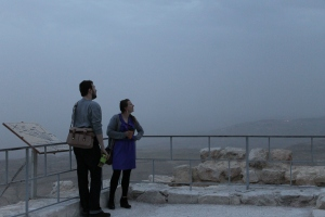 Easter morning in a cloud on Mount Nebo
